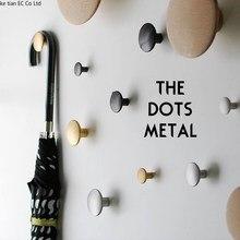 Латунный крюк скандинавские простые металлические ручки декоративные настенные крючки ins мягкие одиночные крючки гостиная Чистая медь
