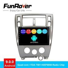 FUNROVER android 9,0 2 din автомобильный dvd мультимедийный плеер для hyundai Tucson 2006-2014 радио gps навигация Стерео Авторадио DSP 2.5D