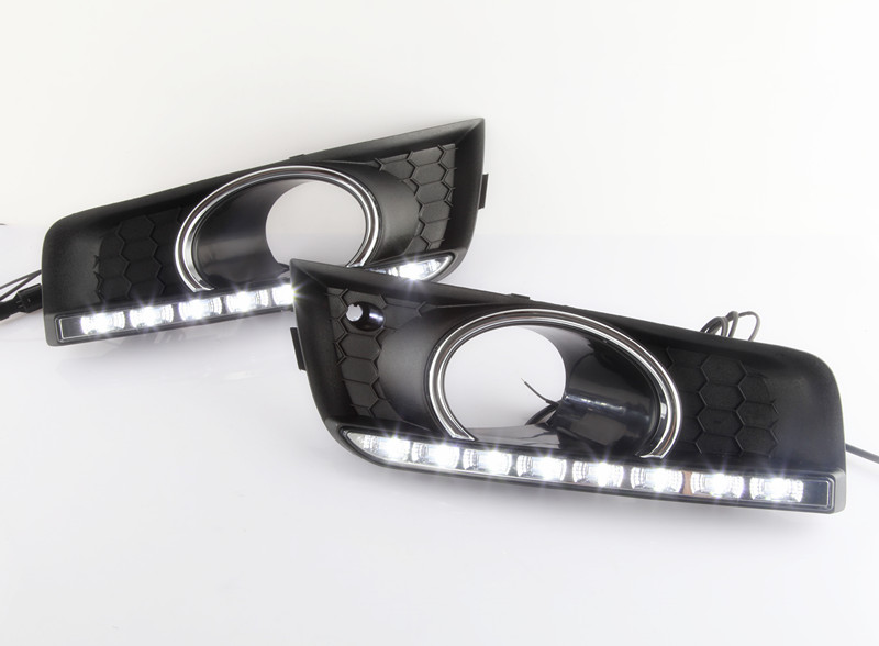 1 Set white and yellow fog driving lamps DRL Daytime running lights with turning signal lamps for Chevrolet Cruze 2011-2014