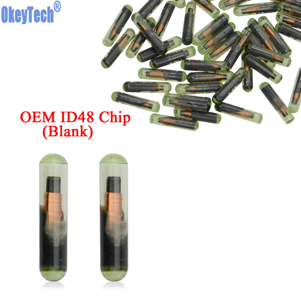 OkeyTech 10pcs/lot Car Key Chip Blank OEM ID48 Chip Auto Transponder Chip Glass ID 48 Unlock Chip For V W Seat Skoda For Audi-in Car Key from Automobiles & Motorcycles