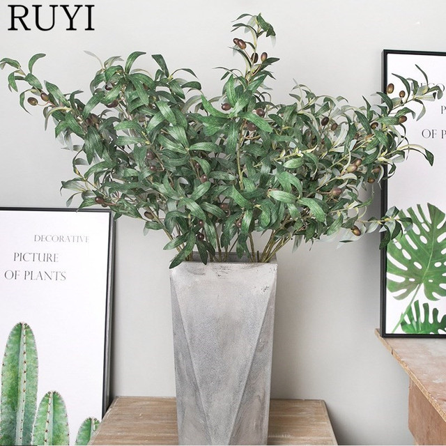 Simulation Large Olive Leaf Artificial Flowers Nordic ins Style ...