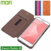 Original Mofi Xiaomi Redmi 4X Case Flip Cover PU Leather Case For Xiaomi Redmi 4X Cover
