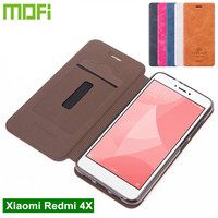 Original Mofi Xiaomi Redmi 4X Case Flip Cover PU Leather Case For Xiaomi Redmi 4X Cover