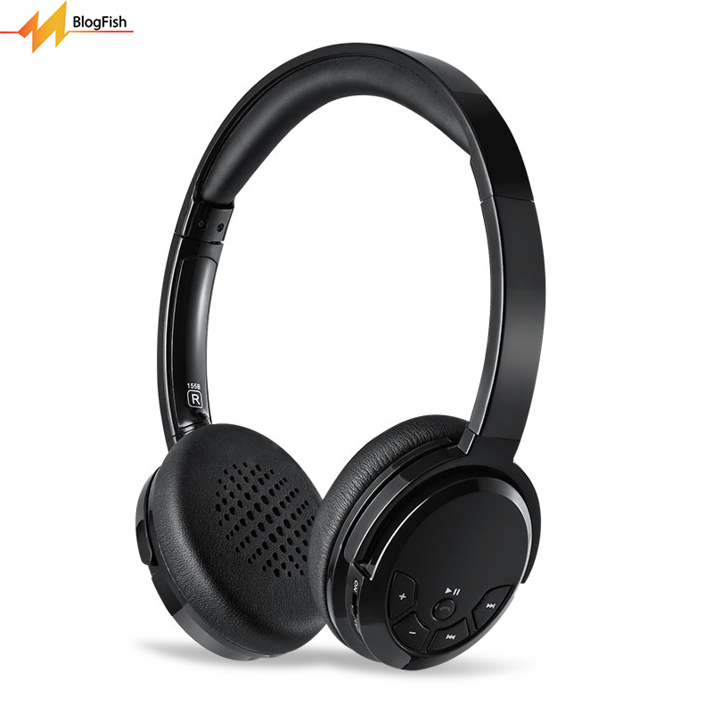 Noise Cancelling Stereo Wireless Bluetooth V4.0 Headphone With Mic Sport Hands Free Over-head Deep Bass Headset For Mobile Phone logitech h110 stereo headset headphone w mic noise cancelling