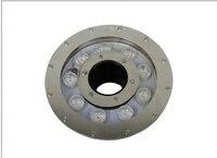 IP68 316 Stainless Steel Rgb Led Fountain Light 15w AC12v 9x3w Epistar 3 In 1 Rgb