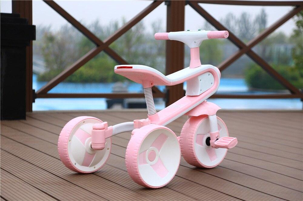 Nouveau Réversible Enfants de Tricycle Vélo 2-6 Ans Grand Scooter Enfants de Vélo Pliant Une Voiture Double -utiliser Tour Jouet De Voiture - 3