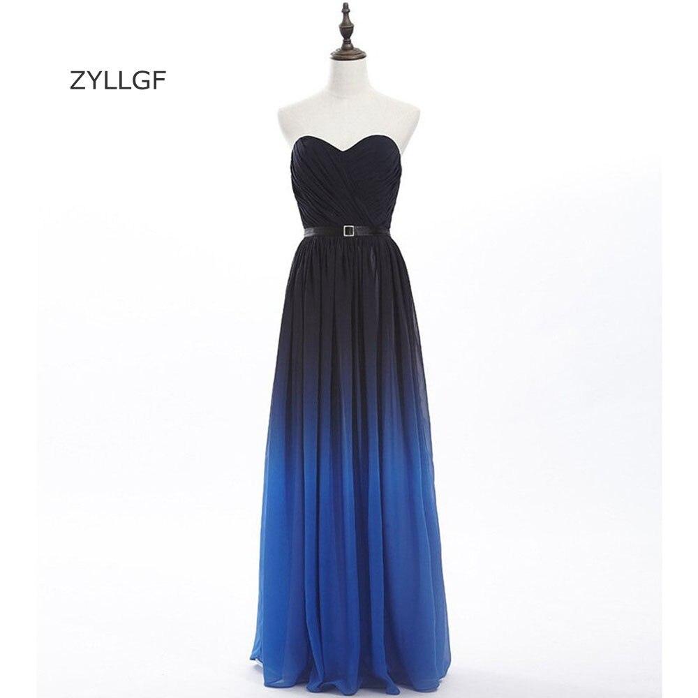 Zyllgf элегантные вечерние платья Милая Длинные градиент цвета вечернее платье 2017 корсет сзади торжественное Женское вечернее платье Q30