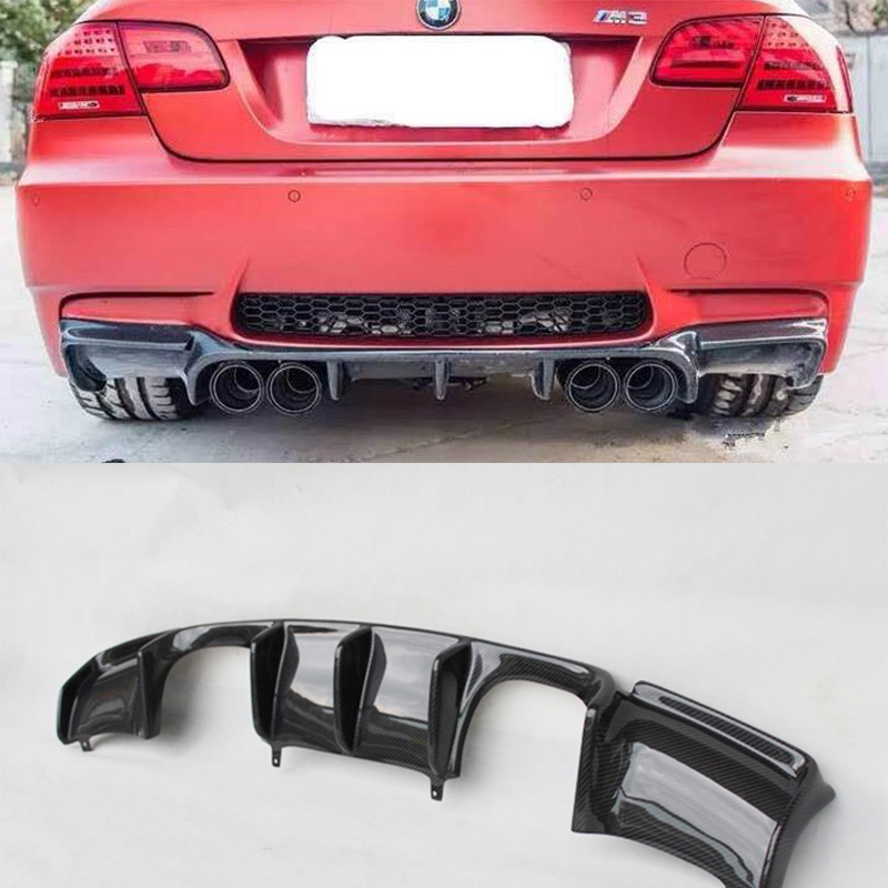 Para BMW E92 M3 Modificado V Estilo De Fibra De Carbono Traseira Do Corpo Kit Difusor Difusor 2006-2013