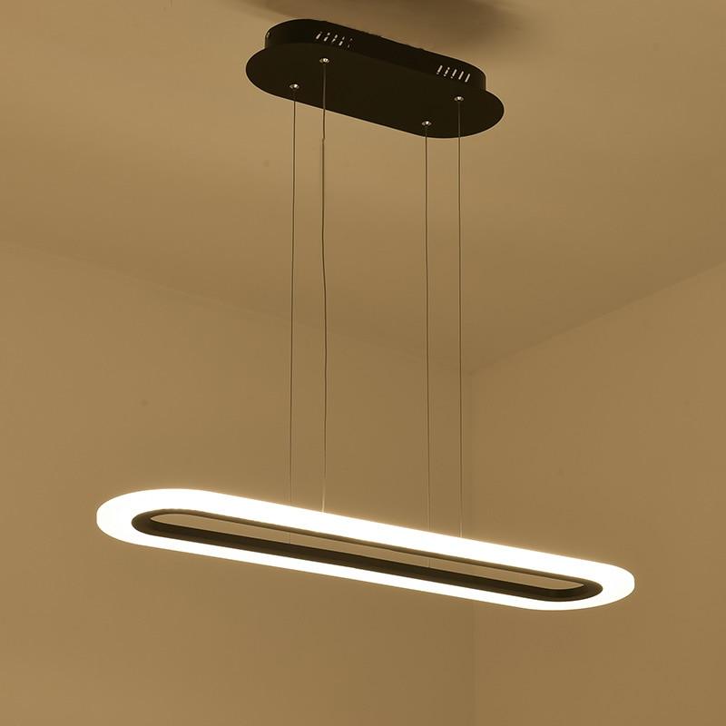 Black White Minimalism Modern Led Pendant Lights Dining Room Hanglamp Office Hanging Nordic