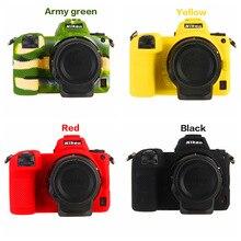 Renkli yumuşak kauçuk silikon kılıf vücut kapak için Nikon Z7 Z6 kamera koruyucu çerçeve cilt için Nikon Z taşınabilir çanta aksesuarları