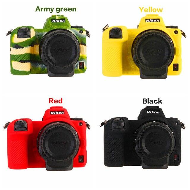 カラフルなソフトラバーシリコン本体カバーニコンZ7 Z6カメラプロテクターフレームためニコンzポータブルバッグアクセサリー