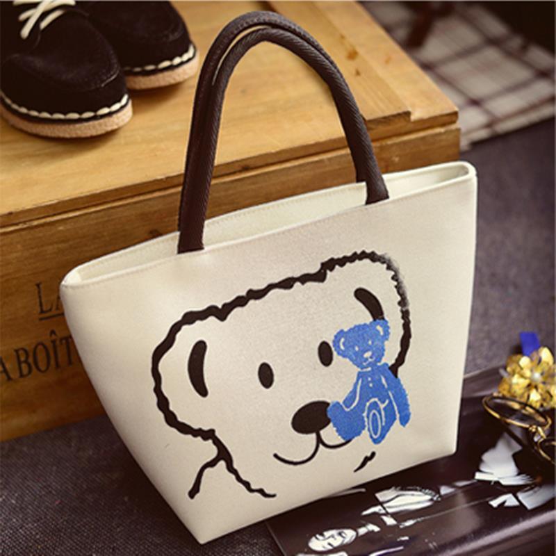 Yesello Women's Handbags Fashion Shoulder Bags Messenger Bag Cute Cartoon Pattern Mickey Hello Kitty Tote Shopping Bag