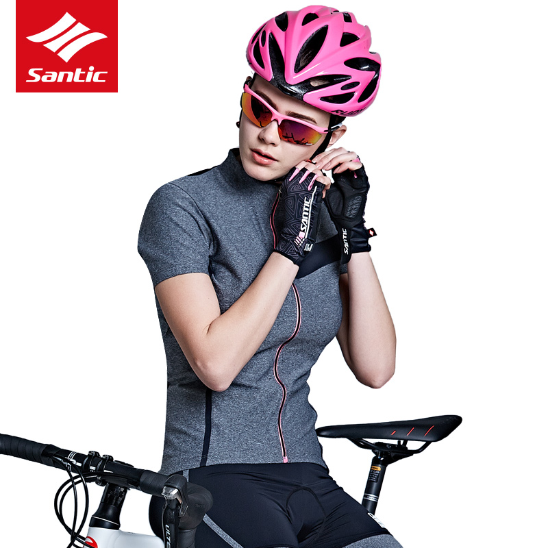 Santic maillot de cyclisme femmes été maillot 2018 Pro course vélo maillot vélo descente tenue de ville maillot ciclismo