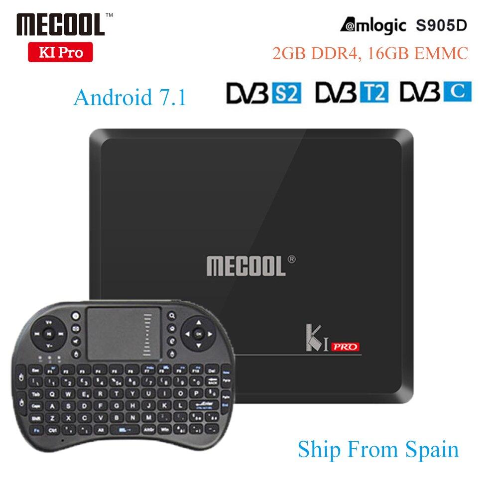 MECOOL KI Pro Android 7.1 Tv Box 2G/16G DVB-S2/DVB-T2/DVB-C Amlogic S905D HD 4K BT4.1 Media Player KI PRO S2+T2+C Set Top Box brand new mini streambox m3c dvb c cable main chip hi3716mv330 linux system hd channels set top box for singpore media player