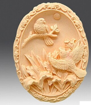 Silicone mold Lily and hummingbird DIY handmade soap mould font b food b font grade silicon