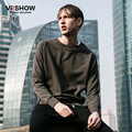 Viishow New Spring Sweatshirt Men Fashion Round Neck Armygreen Cotton Hoodie Casual Pullover Men Hoodies Suits WD59961
