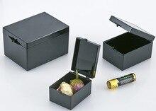 ชิ้น/ล็อต 10 สีดำป้องกันกล่องรูปสี่เหลี่ยมผืนผ้าตัวอย่างกล่องขนาดเล็กเครื่องประดับกล่อง 7.5x5.5x4.5
