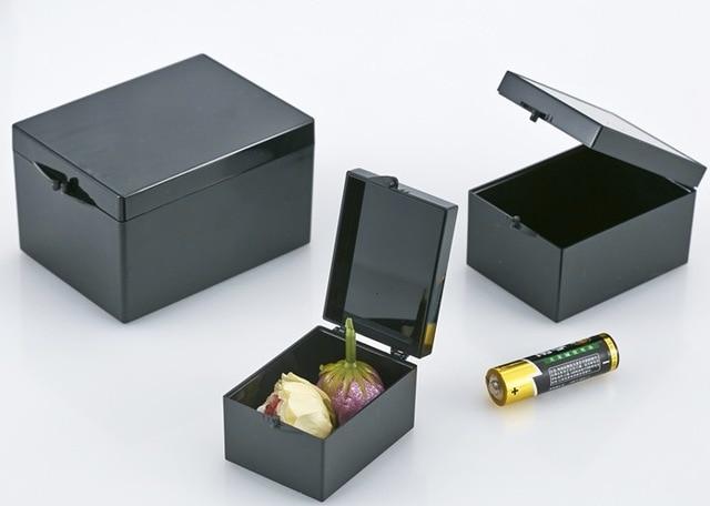 10 ピース/ロット 7.5 × 5.5 × 4.5 センチメートル黒遮光長方形標本箱小さなジュエリー収納ボックスビン