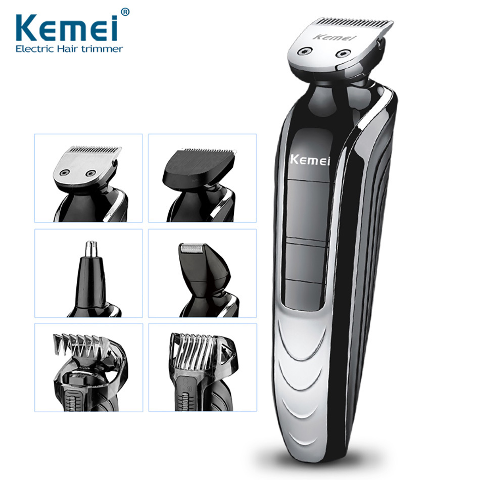<font><b>Kemei</b></font> KM-<font><b>1832</b></font> 5 in 1 Waterproof Rechargeable Electric Shaver New Cutter Electric Hair Clipper Nose Hair Trimmer For Men image