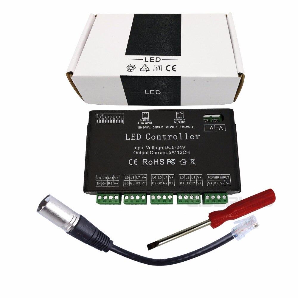 Decodificador DMX de 12 canales DC5V-24V Controlador de tira RGB LED - Accesorios iluminación - foto 6