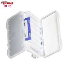 Portable Fire Fox JCB302 Fishing Tackle Boxes Fly Fishing Box Material PP Double open 14 Cells
