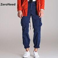 Cotton Trousers Men Casual Pants Punk Style Multi Pocket New Arrival Fashion Casual Long Cargo Pants