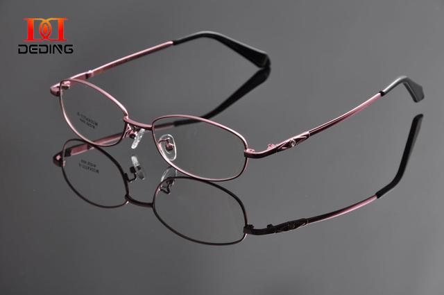 Óculos de armação de óculos templo flexível de memória de DEDING colorido meia aro óculos Anteojos DD0946