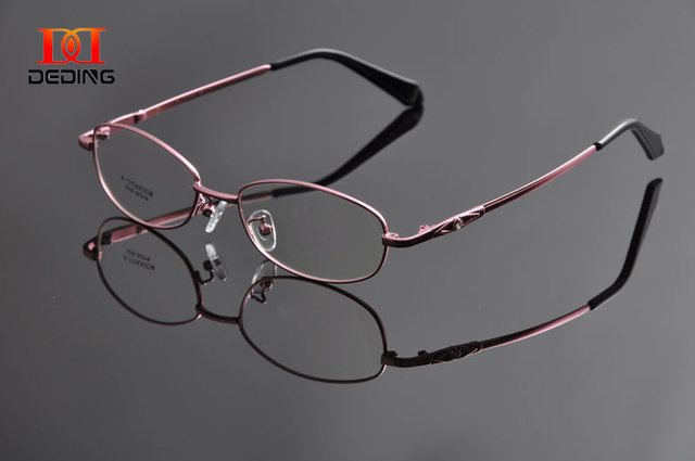 DEDING Women  Memory Temple Spectacle Frame Super Flexible Optical Eyeglasses Multicolored Half-rim Eye Glasses Anteojos DD0946