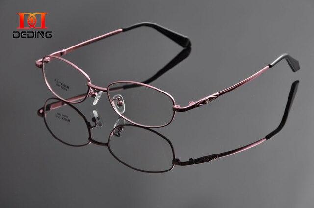 Deding женщины памяти храм спектакль рамка супер-гибким оптические очки разноцветные half-диска очки , Anteojos DD0946