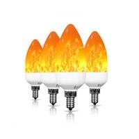 JLAPRIRA Led Flame Flickering Bulb E12 Led Bulb AC 85 265V 2W Christmas Led Lights for Decor