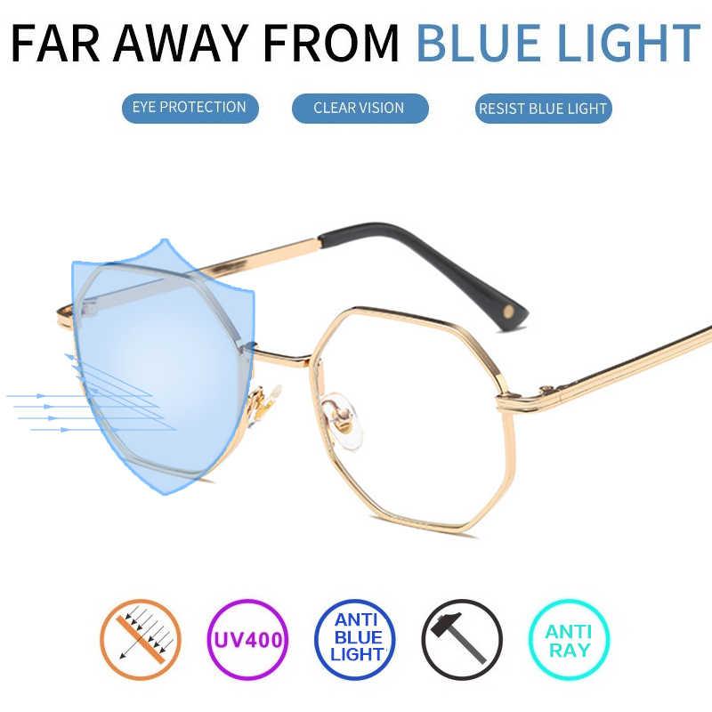 6a77c468f0 Vazrobe Computer Anti Blue Light Glasses Women Men Hexagon Men s Gaming  Eyeglasses Radiation UV400 Work Phone