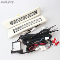 MZORANGE 2x Excellent Aluminum DRL LED Daytime Running Light Fog Light For Toyota LAND CRUISER Prado