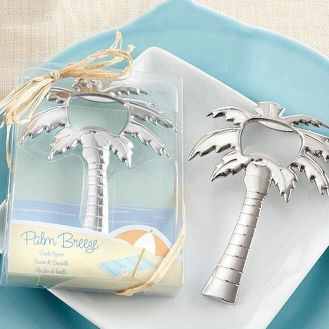 Give Away Gift Ideas For Weddings: 100pcs Beach Themed Wedding Favour Palm Tree Bottle Opener