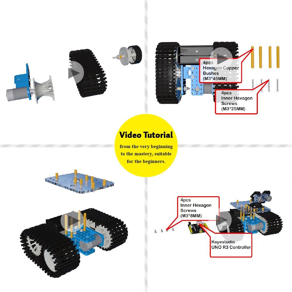 Keyestudio 最終割引 ミニタンクスマートロボットカーキット Arduino