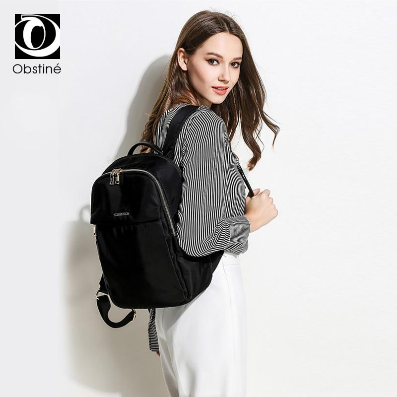 Large Business Female Backpack Laptop 15 6 Inch Waterproof Women Backpacks for Travel Black Backbag Bag