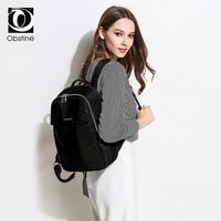 Large Business Female Backpack Laptop 15.6 Inch Waterproof Women Backpacks for Travel Black Backbag Bag Luxury Bagpack for Girls