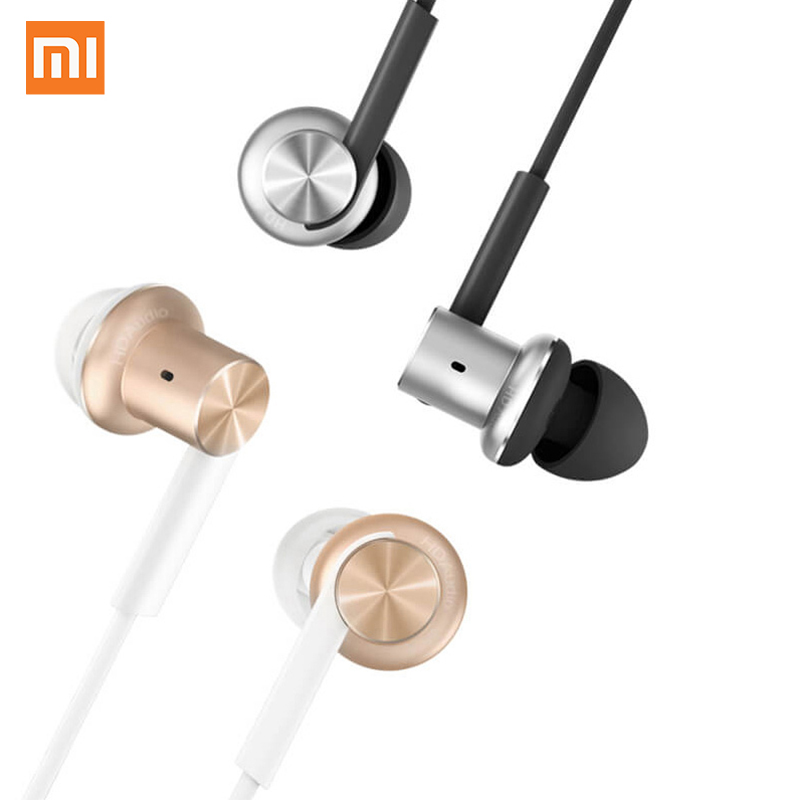 Original Xiaomi Mi Earphones Hybrid In-ear Stereo Piston Circle Iron Fresh with Mic for Hifi Xiaomi Phones ipad MP3 PC 3.5mm