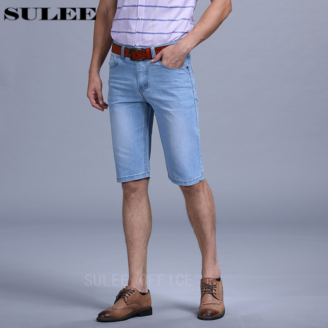 6912625c86c 2018 Mens Lightweight Denim Jean Shorts Blue Summer Style Shorts Plus Size  Jean Price From  12.99 Up Mens Short Pants Trouser