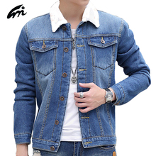 Mens Jean Jacket New Collar quality fashion Jeans men Thick Warm Jackets Classic Cotton Denim Jacket men Casual Single Breasted