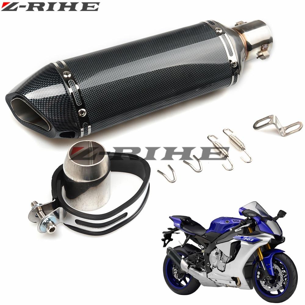 Modified Motorcycle RACING Exhaust Pipe Moto escape Muffler FOR YZFR1 YZFR6 CBR125 CB250 CBR250 CB400 CB600 VFR800 FJR1300 MT03 motorcycle accessories for cb400 vtec cbr250 motorcycle modified exhaust pipe free shipping