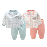 2PCS Baby Clothes Set Newborn Baby Girl Clothes Winter Spring 100 Cotton Children Clothing Baby Boy