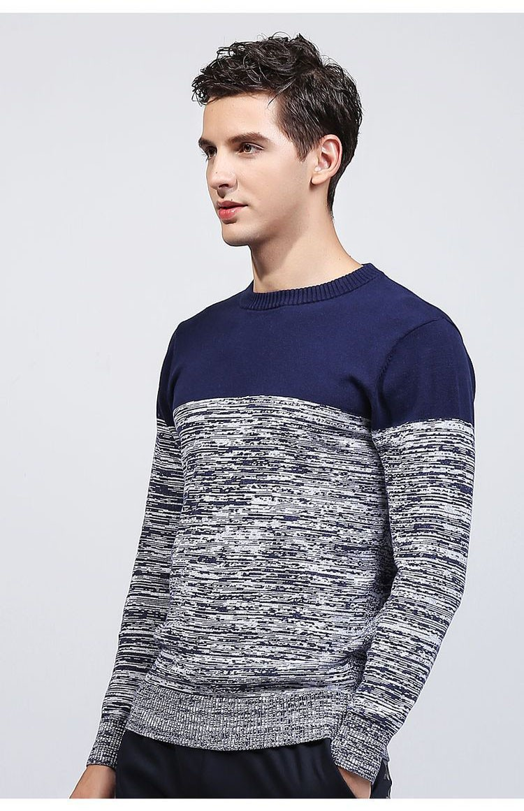 Aolamegs Men Sweater Fashion Hit Color Knitted Pullovers 2017 Spring New Men\'s Classic Casual Slim Fit Knitting Sweter Hombre (7)