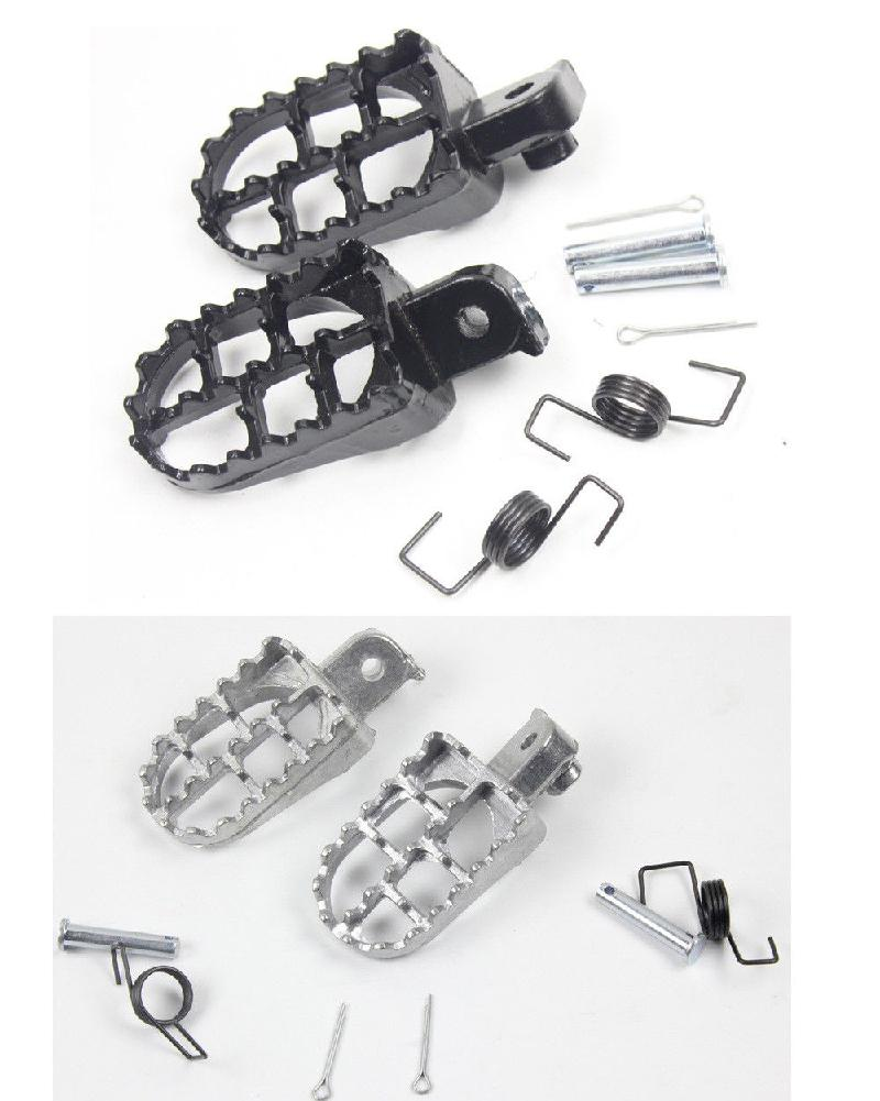 Foot Pegs Pedals For Yamaha TW200 PW50 PW80 Pit Dirt Bike SSR SDG Footrests Foot Pegs Set For Honda X R 50 XR70 Pit R30