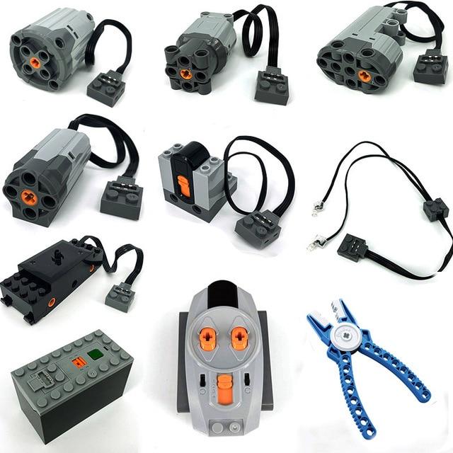 Technic MOC Parts Compatible Power Functions Tools Servo Blocks 20001 Train MXL Electric Motor PF Model Building Kits