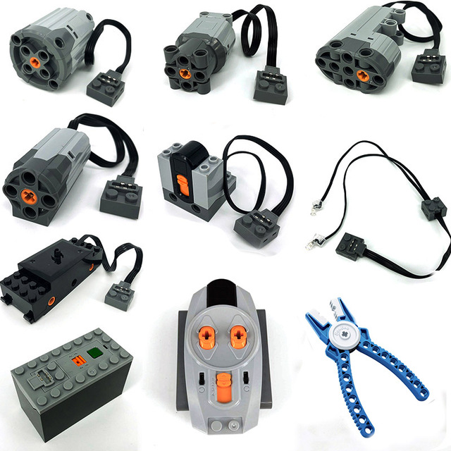Technic MOC pièces compatibles fonctions électriques outils Servo blocs 20001 Train MXL moteur électrique PF Kits de construction de modèles