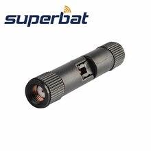 Superbat антенный адаптер RP-SMA штекер наклонно-поворотный правый угол прямой RF адаптер разъем