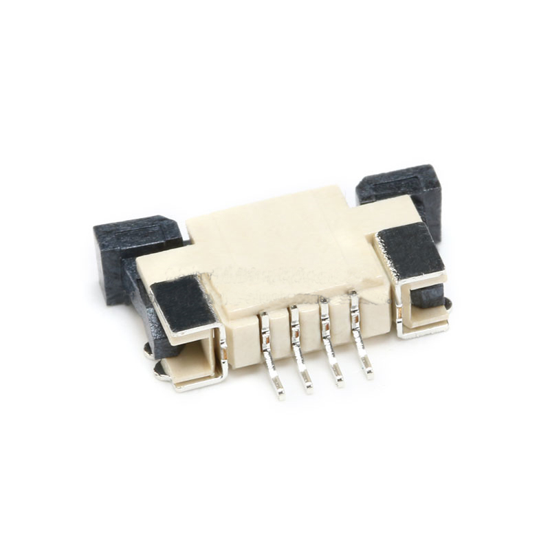 Free shipping 20pc FFC/FPC 4P 1mm Pitch Cable socke Flat Connector top Contact 4PIN