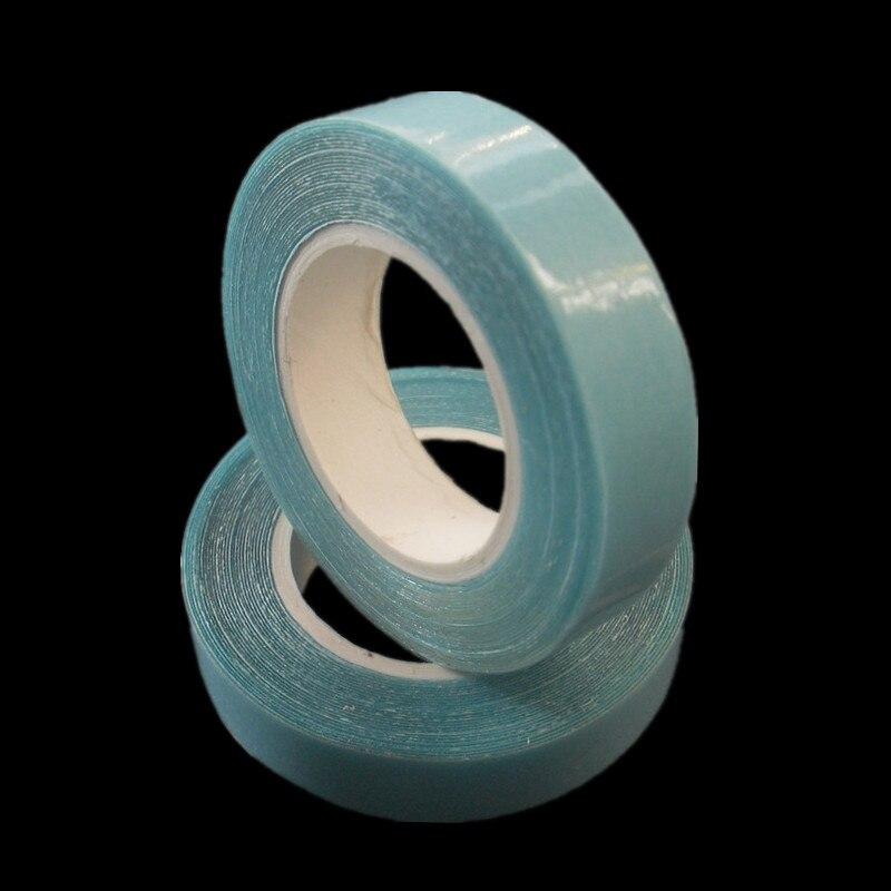1rolls двухсторонний волосы лента 0,8 см/1 см/2 см * 300 см супер лента голубой цвет парик ленты легко Применение для расширения ленты волос ...