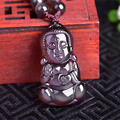 Natural ice kinds rainbow obsidian eye baby Buddha pendant Benming Buddha pendant necklace