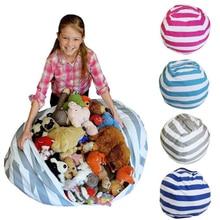 Stuffable Animal Toys Storage Bean Bag Stuffed Children Kids Plush Toy Organizer Large Capacity Storage Bags